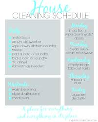 Weekly Household Cleaning Schedule Weekly Home Cleaning Schedule Template Stingerworld Co