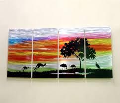 on australian animal metal wall art with australia outback wall art outback australia wall art modern youtube