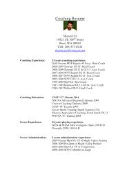 Rugby Coach Resume Examples Templates Coaching Objective Cv