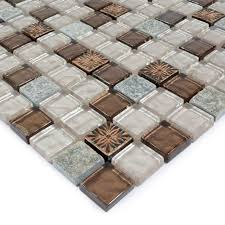 stone glass mosaic tile ice glass with marble backsplash wall stickers floor tiles