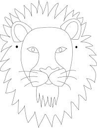 Lion Mask Printable Coloring Page For