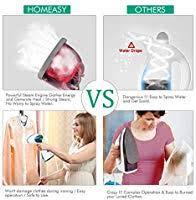 homeasy Clothes Garment 5 in 1 <b>Handheld</b> Fabric <b>Steamer</b> Wrinkle ...