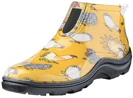 com sloggers women s waterproof rain and garden ankle boot with comfort insole ens daffodil yellow size 8 style 2841cdy08 garden outdoor