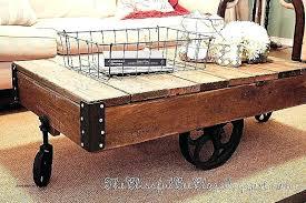 railroad cart table railroad cart coffee table railroad cart coffee table restoration hardware unique factory cart