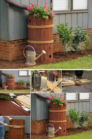 diy rain barrel planter box