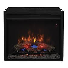 25 1875 in black electric fireplace insert