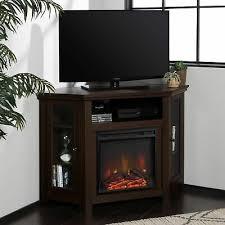 modern corner electric fireplace 55