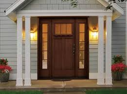 rustic style fiberglass entry doors with sidelights r14