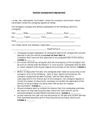 consignment form for cars fillable online vehicle consignment agreement fax email print