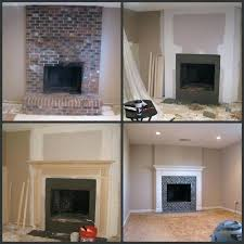 how to makeover a brick fireplace inspirational updated brick fireplace ideas to update an old brick