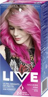 Pink Hair Colour Chart 093 Shocking Pink Hair Dye By Live