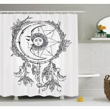 Asian Dream Catcher Ambesonne Asian Dreamcatcher Moon Shower Curtain Set Size 100 H x 100