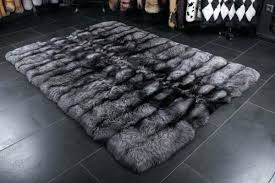 how to clean white faux fur rug made with real international furs 1 saga