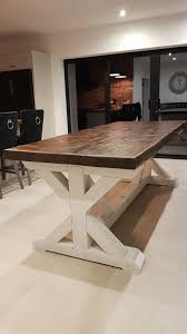 Small Country Kitchen Table Beautiful Diy Live Edge Trestle