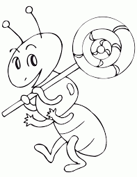 Small Picture Coloring Page Cute Ant Coloring Pages hermesboardcom