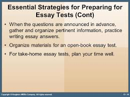 developing strategies for recall math and essay tests ppt  essential strategies for preparing for essay tests cont