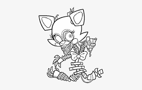 Fnaf Mangle Coloring Pages Five Nights At Freddys Mangle Coloring