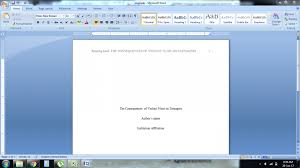Microsoft Word Apa Header Simple And Easy Guidelines On How To Write In Apa Format For