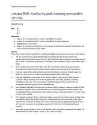 Persuasive Essay Lesson Plans For 6th Grade