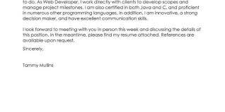 Cover Letter Template Web Developer Resume Format