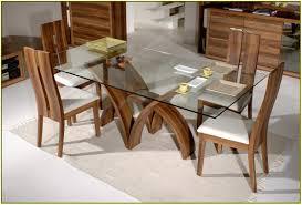 glass rectangular dining table set. rectangular glass top dining table set