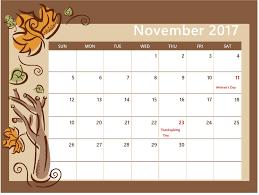 calendar 2017 october october november december