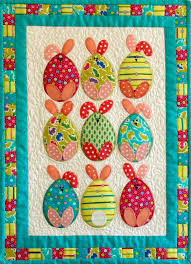 169 best Easter quilts images on Pinterest   Kid quilts, Applique ... & Easter egg bunnies quilt at Patchwork Bliss (Australia) Adamdwight.com