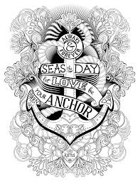 20 anchor coloring pages