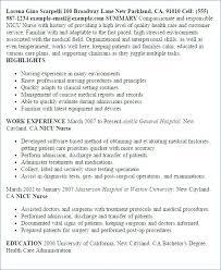 Nicu Nurse Resume Professional Nurse Templates To Showcase Your