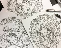 Small Picture Anime coloring book Etsy