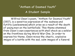 anthem for doomed youth ppt video online  anthem of doomed youth