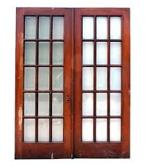 sold fabulous pair of salvaged french doors oak with beveled glass screen antique beveled glasirrors doors