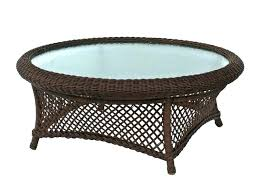 wicker side table outdoor round coffee white rattan end indoor