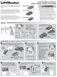 liftmaster garage door opener remote program see programming instructions programmable remote controls from garage door opener