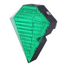 Green Light Cycle Canwelum Diamond Shaped Rechargeable Led Bike Tail Light