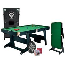 bce 6ft folding snooker pool table with dart board
