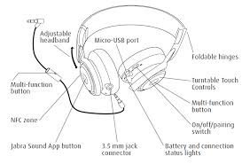 amazon com jabra revo wireless bluetooth stereo headphones Earpiece Bluetooth Wire Diagram Earpiece Bluetooth Wire Diagram #16 bluetooth headset wiring diagram