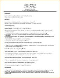 Math Teacher Resume Examples Free Resume Papers
