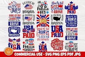 Coreldraw, inkscape, and adobe illustrator png is a photo file with a transparent background (300 dpi). 4th Of July Svg Patriotic Svg American Flag Svg Shirt Svg 647847 Cut Files Design Bundles