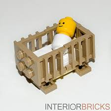 LEGO Furniture: Baby Crib with Baby Included! - Custom Design & Instructions  Interior Bricks