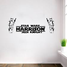 star wars wall stickers two stormtroopers with letters home decor diy creative removable bedroom living room stickers wallpaper mural wall decals flowers  on star wars wall art stickers with star wars wall stickers two stormtroopers with letters home decor