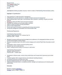 field marketing representative resume - Field Representative Resume