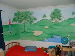 kids bed rooms golf wall mural for toddler boys bedroom by colette cool wall