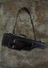 men s bags handmade livemaster handmade leather carrying case for shots merkel 96k
