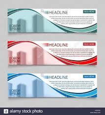 Business Banner Design Website Horizontal Business Banners Vector Template Abstract Banner