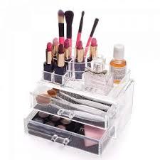 harga spesifikasi clear acrylic makeup organizer set akrilik tempat makeup csf0201 dan ulasannya