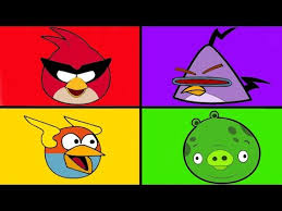 angry birds coloring pages for learning colors angry birds space