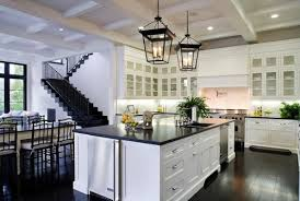 One Wall Kitchen with Square Kitchen Island