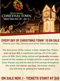 busch gardens tickets. Military Discount Rate At Local MWR/ITT Offices For Busch Gardens Christmas Town Williamsburg: Tickets