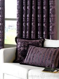 Dulux Luxury Cut Velvet Damson Purple Cushion